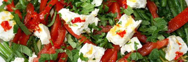 salade haricots verts tomate feta
